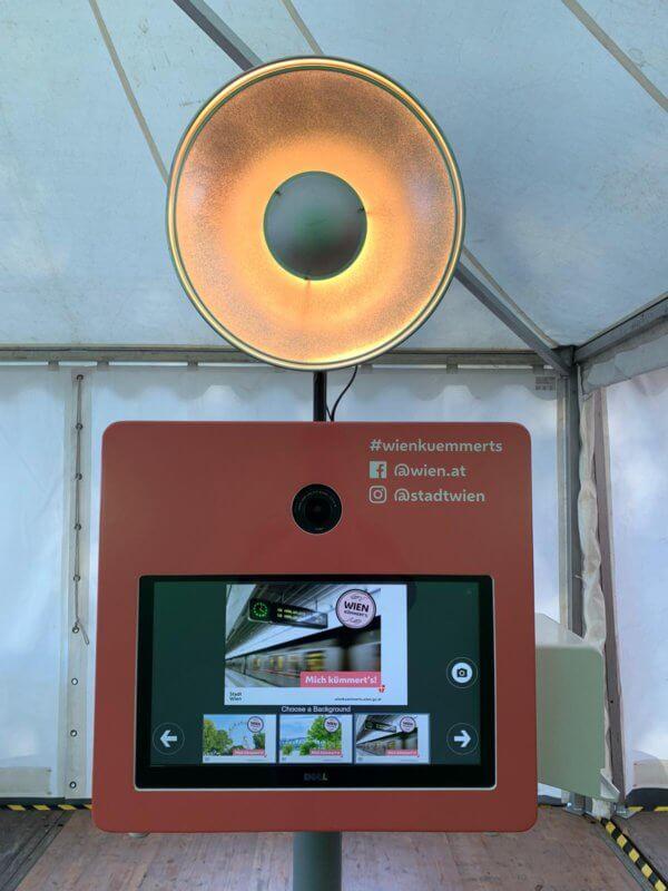 Snapify Fotobox beim Wiener Sicherheitsfest